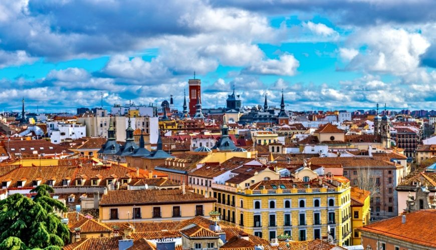 Aerial view of Madrid City_Europe Short Tour