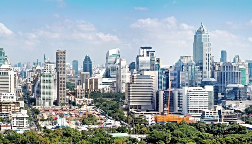 Bangkok City Cityscape, Panorama Downtown of Bangkok_Thailand Super Saver