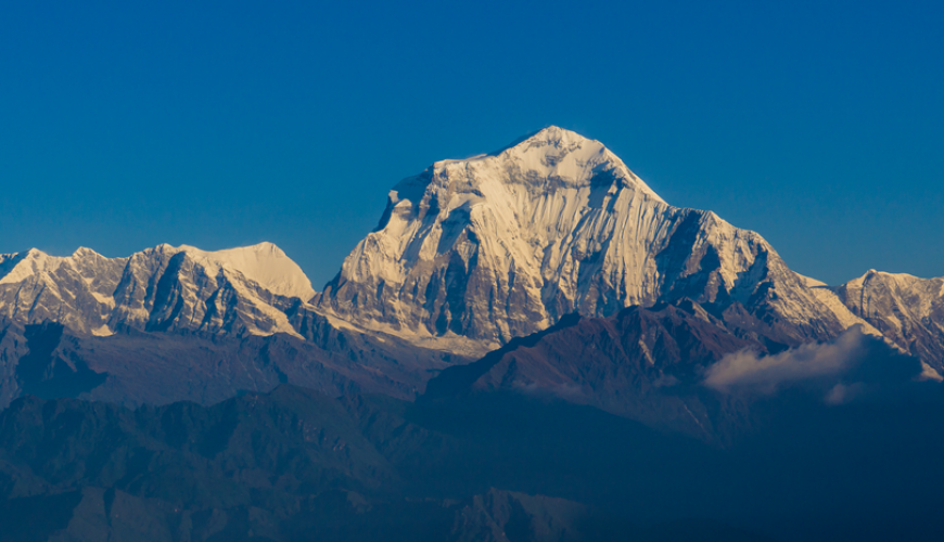 Panoramic View of Dhaulagiri Mountain Range from Poon Hill, Ghorepani-Nepal