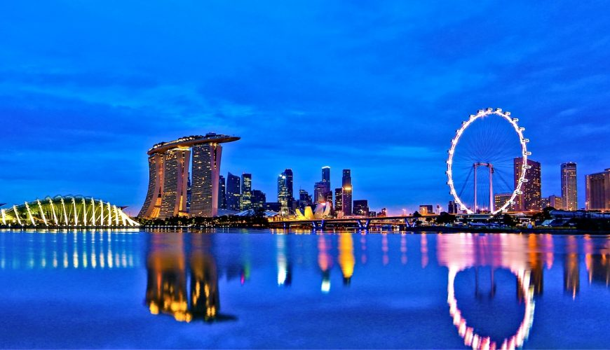 Singapore Skyline at Dusk_Singapore and Kuala Lumpur Ideal Tour