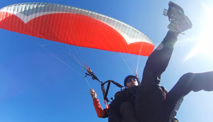 Tourist Playing Guided Classic Paragliding at Pokhara_Classic Flight