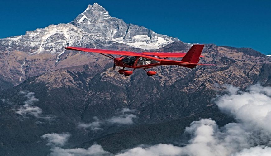Ultralight Plane Flies Over Pokhara and Annapurna Region in Nepal_Feel the Wind